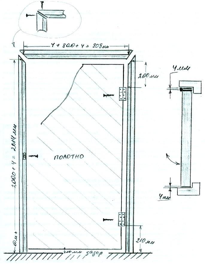 Установка ручки для межкомнатных дверей своими руками
